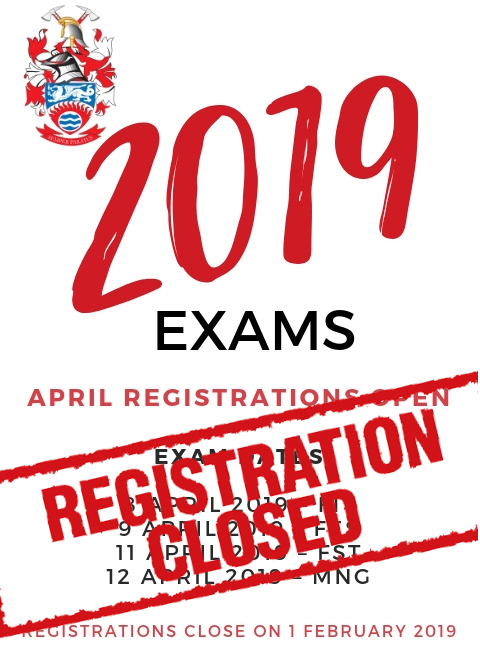 2019 April exam dates