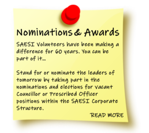 Post-It SAESI Nominations and awards