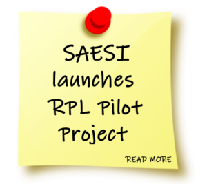 PostIt - SAESI launches RPL pilot project