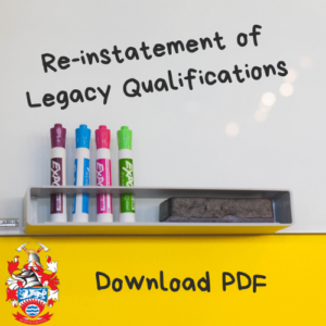 Re-instatement of Legacy Qualifications (1)