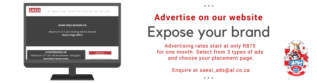Advertise on SAESI website Banner