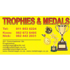 Trophies and medals Krugersdorp