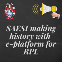 SAESI making history with e-platform for RPL - click to read more